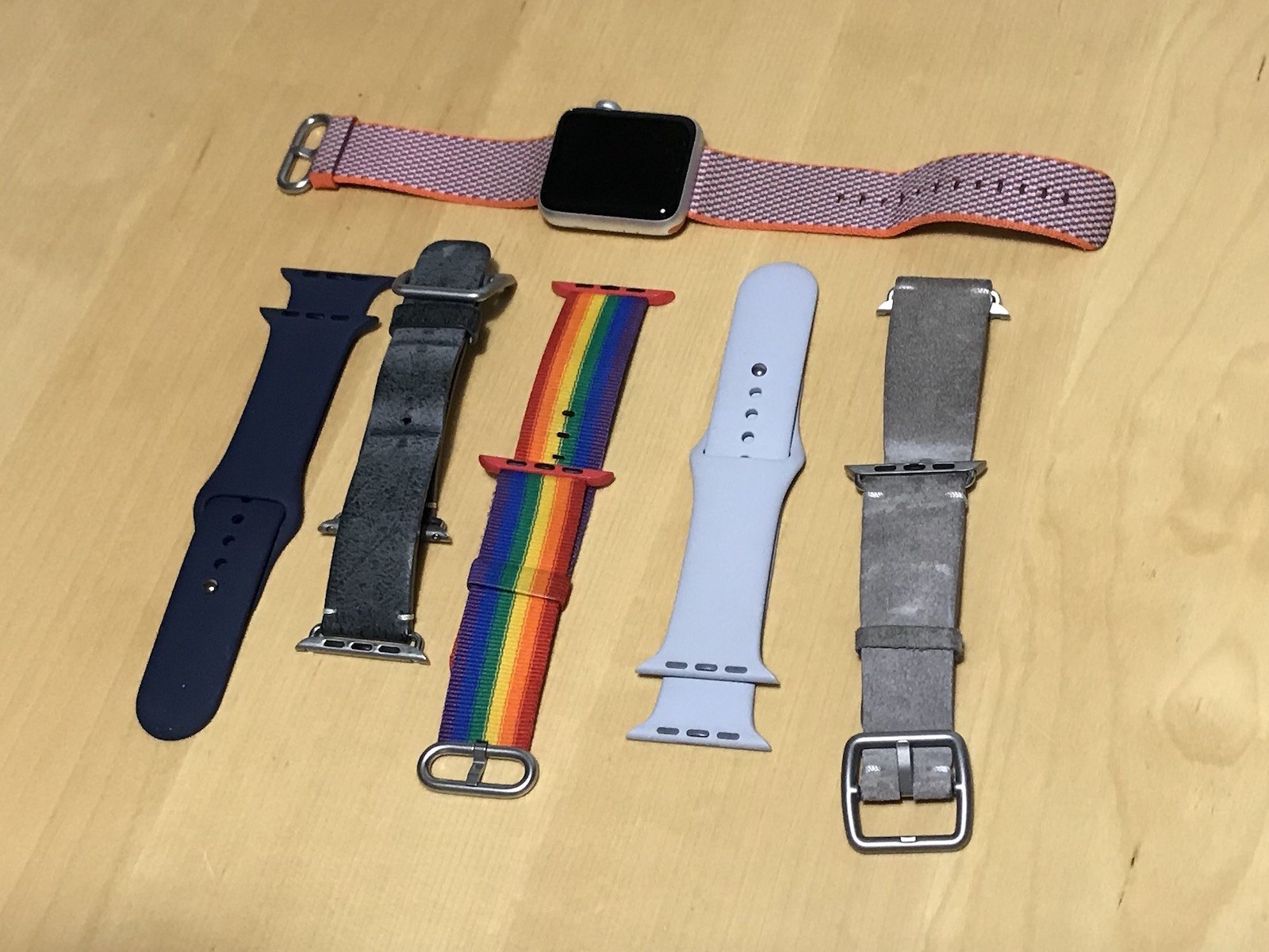 Watch bands, perhaps too many …