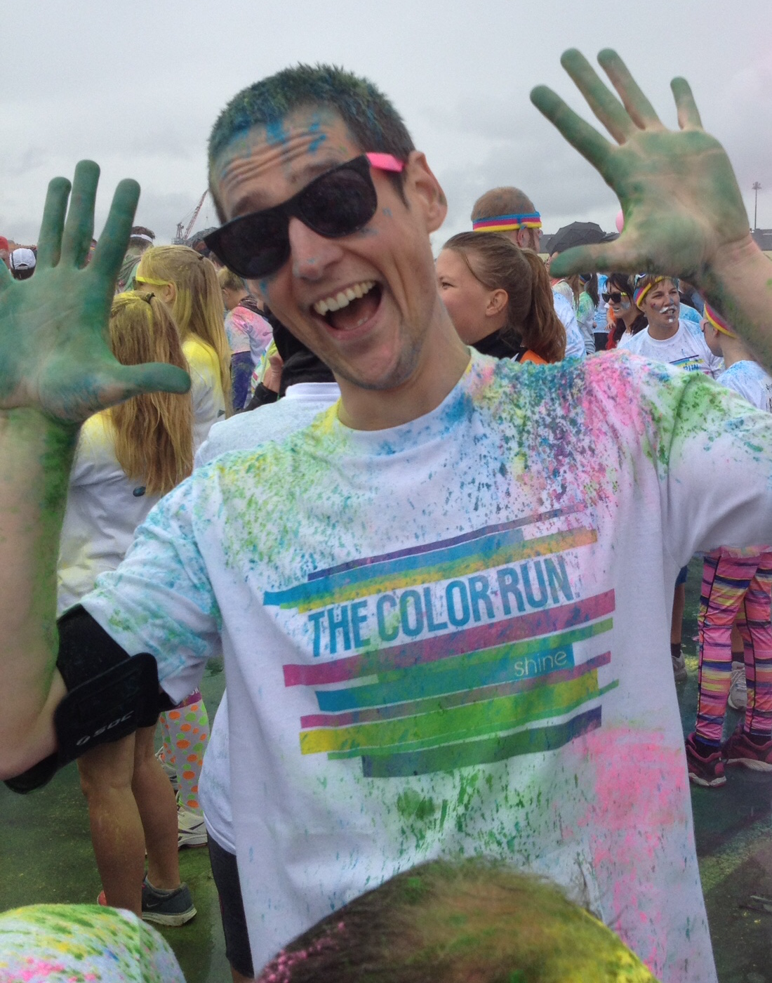 At the start of the Color run